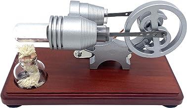 Nishore Estilo Retro Ar Quente Motor Stirling Motor Modelo Dollar Flywheel Design Brinquedo Educacional Gerador de Eletric...