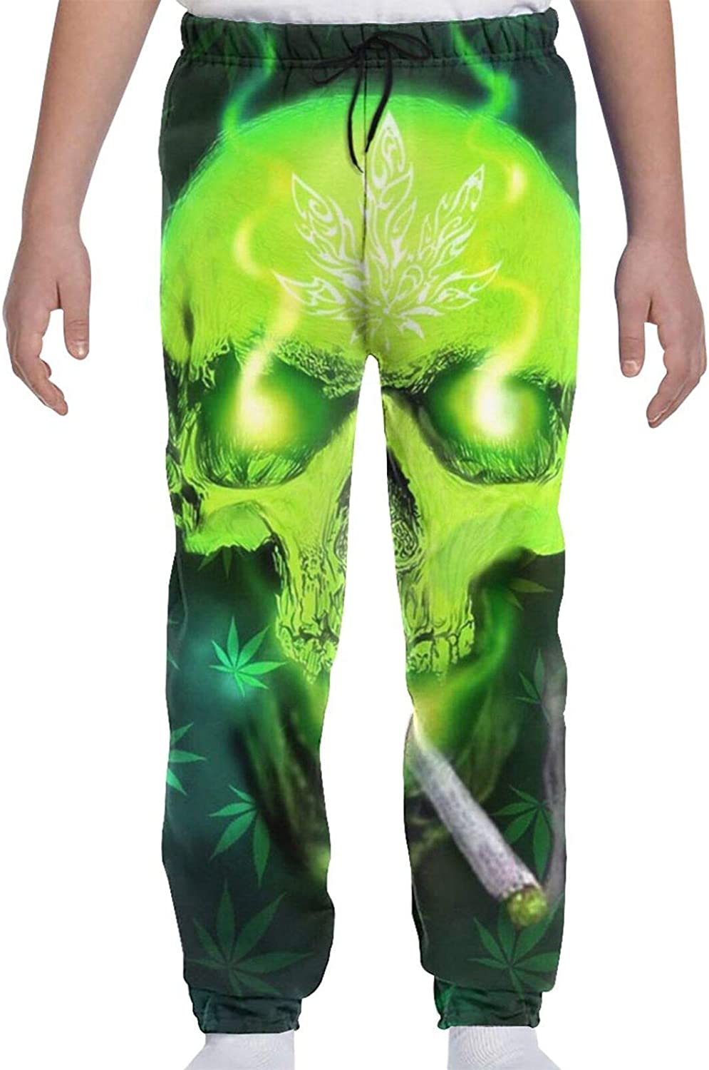 HARLEY BURTON Youth Sweatpants Marijuana Skull Max 71% OFF Our shop OFFers the best service Psychedelic Boys