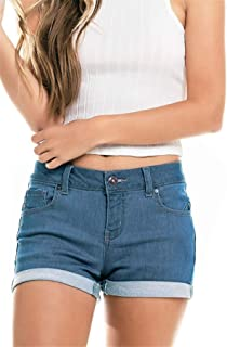 onlypuff Denim Hot Shorts for Women Casual Summer High Waisted Short Pants with Pockets