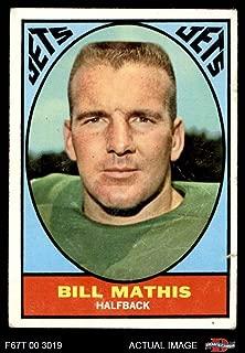 1967 Topps # 96 Bill Mathis New York Jets (Football Card) Dean's Cards 1.5 - FAIR Jets Clemson