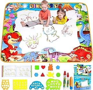 ALLCELE Tapis Dessin Enfant, 100*70 cm Tapis Aqua Magic Doodle Matte, Jouets pour Enfants Garçons Filles 3 4 5 6 7 8 9 10 ...