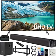 $699 » Samsung UN58RU7100 58-inch RU7100 LED Smart 4K UHD TV (2019) Bundle with Deco Gear Soundbar with Subwoofer, Wall Mount Kit, Deco Gear Wireless Keyboard, Cleaning Kit and 6-Outlet Surge Adapter