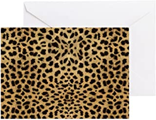 CafePress Cheetah Animal Print Copy Greeting Card, Note Card, Birthday Card, Blank Inside Glossy