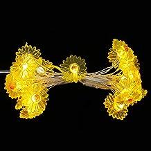 OSALADI 2M Daisy Snaar Licht Led Decoratieve String Lights Romantische String Lights Decor Voor Party Wedding Indoor Slaap...