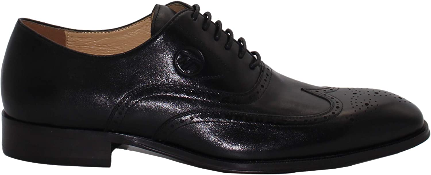 a10feeac Maestrami Men's Leather Prince Oxford shoes,Formal Lace Up Wingtip ...