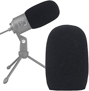 Foam Mic Windscreen, Pop Filter Wind Cover fits for Fifine USB Condenser Recording Microphone K669 669B by SUNMON