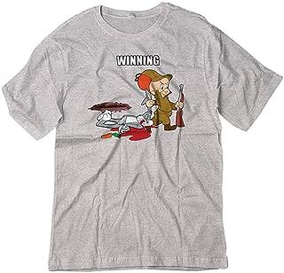 BSW Men's Bunny Elmer Shot Looney Cartoon Shirt