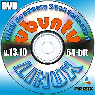 Ubuntu 13.10 Linux DVD 64-bit Full Installation Includes Complimentary UNIX Academy Evaluation Exam