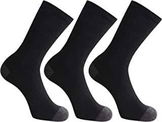Closemate Mens Cushion Crew Socks Moisture Wicking Athletic Cotton Socks for Sport Training Work 10-13, 3 Pairs