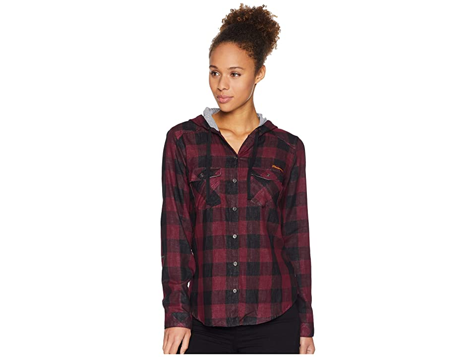 Columbia Collegiate Times Twotm Hooded Long Sleeve Shirt (MN/Rich Wine Check) Women