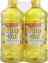 Pine-Sol Multi-Surface Cleaner, Lemon Fresh Scent, Two Count Bottle, 120 fl oz Total, (2x60), Basic Pack