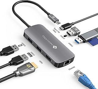 NOVOO USB C ハブ 2021新型マルチポート USB C アダプター 7-in-1 USB Type C HDMIハブ 変換 アダプター 人気 タイプ C ハブ 100W PD充電、4K HDMI、3 * USB 3.0、USB 2....