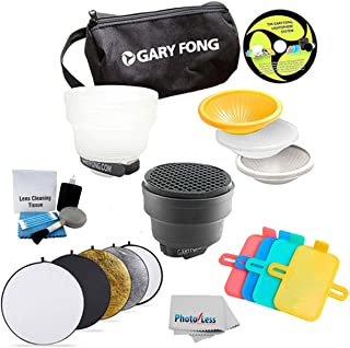 Gary Fong Fashion and Commercial Lighting Flash Modifying Kit 43-Inch 5-in-1 Collapsible Multi-Disc Light Reflector, Silver, Gold,White, Black, & Translucent in Case For Nikon Flash SB-700 SB-900 SB 910 SB-400 SB-300 SB-600 SB-800 + Cleaning Kit