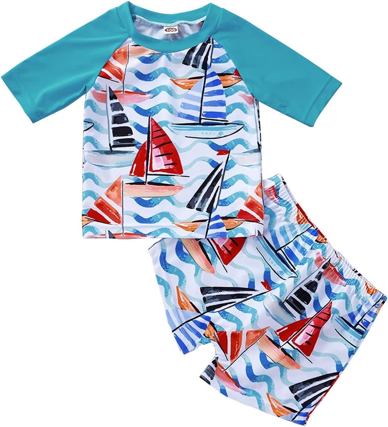 Children Swimwear Toddler Kids B Boys Tops+Short SEAL limited product Letter Ranking TOP9