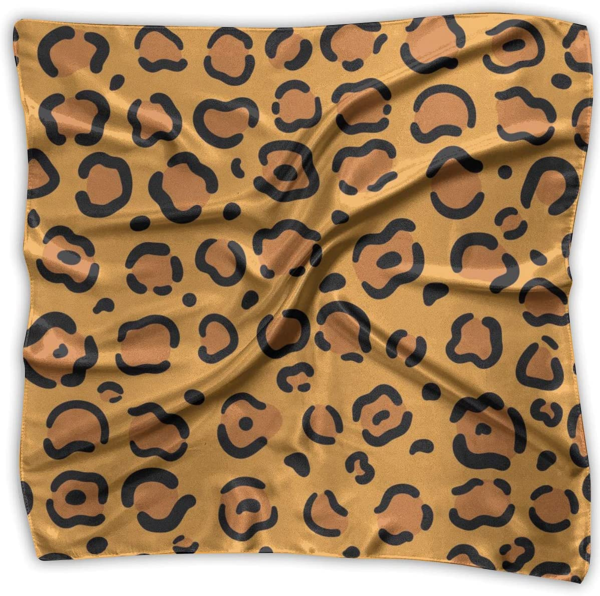 YANGZXC Leopard Yellow Handkerchief Polyester Pocket Square Mulipurpose Silk Bandanas Delicate Printing