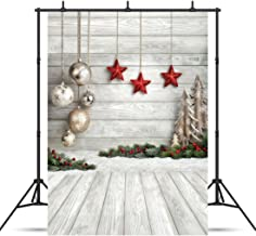 SJOLOON 5X7ft Christmas Balls White Wood Floor Photography Backdrop Fabric Photo Backdrops Customized Studio Background JLT10383