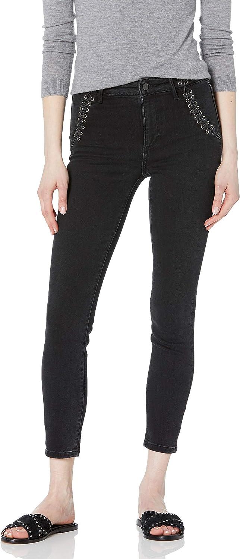PAIGE Women's Hoxton Transcend Vintage Lacing Detail Skinny Ankle Jean