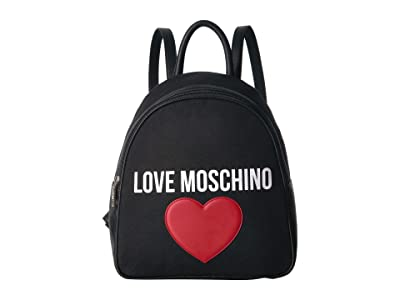 LOVE Moschino Canvas Backpack (Black) Backpack Bags