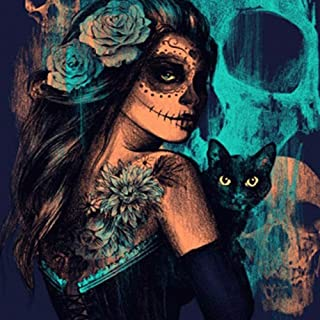 Best DIY 5D Diamond Painting Kits for Adults Full Drill Embroidery Paintings Rhinestone Pasted DIY Painting Cross Stitch Arts Crafts for Home Wall Decor 11.8×15.7 Inches (Halloween Witch with Black Cat) Review
