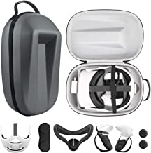 Esimen Travel Case for Oculus Quest 2 Halo Strap /Face Silicone Mask /Touch Controllers Grip Cover Strap , Includes Multip...