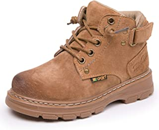 JACKSHIBO Ankle Outdoor Boots for Boys Girls Warm Winter Leather Boots(Toddler/Little Kid/Big Kid)