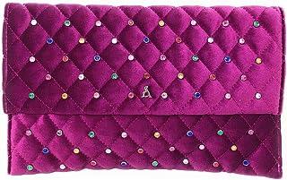 PASHBAG by L'ATELIER DU SAC Tasche aus Samt für Damen glänzend violett