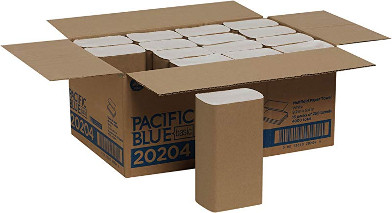 Pacific Blue Basic Multifold Paper Towels Previously Branded Acclaim By GP PRO Georgia Pacific White 20204 250 Towels Per Pack 16 Packs Per Case