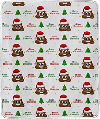 Amazon com: ALAZA Funny Emoji Poop Blanket Lightweight Soft Warm