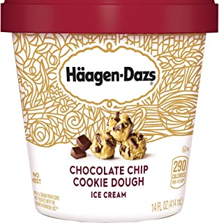 Haagen-Dazs, Chocolate Chip Cookie Dough Ice Cream, 14 oz (Frozen)