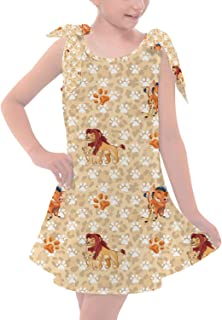Rainbow Rules Hakuna Matata Lion King Disney Inspired Girls Shoulder Bow Dress