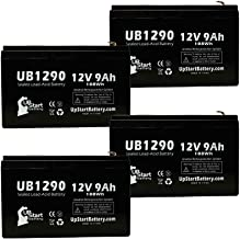 4 Pack Replacement for Tripp Lite SMART3000RM2U Battery - Replacement UB1290 Universal Sealed Lead Acid Battery (12V, 9Ah, 9000mAh, F1 Terminal, AGM, SLA) - Includes 8 F1 to F2 Terminal Adapters