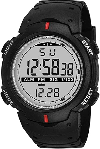 Digital Boy S Watch Black Dial Black Colored Strap