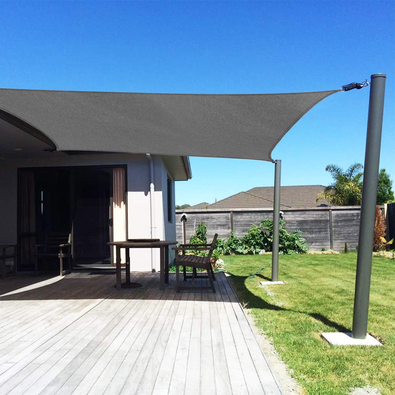 RATEL Toldo Vela de Sombra Rectangular Gris 3 x 4 m, protección 95% UV y Transpirable, para Jardín, Patio, Exteriores, Pergola Decking: Amazon.es: Jardín