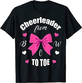 Cheerleader From Bow 2 Toe T Shirt Cheerleading Girl Gift