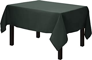 Gee Di Moda Square Tablecloth - 52 x 52 Inch - Hunter Green Square Table Cloth for Square or Round Tables in Washable Polyester - Great for Buffet Table, Parties, Holiday Dinner, Wedding & More