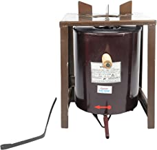 DATTU CHUHLA Mild Steel with Cast Iron Improved Biomass Smokeless Fuel Efficient Cook Stove, Brown (2)