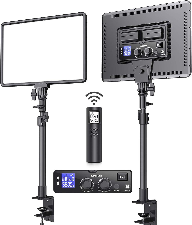 Led Video Light Kit SAMTIAN OFFicial mail order Desk Panel 17.7'' Fashionable Soft Mount