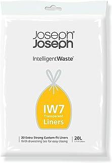 Joseph Joseph 30119 IW7 Sacs poubelles litres (Paquet de 20) -Transparent, 20 L