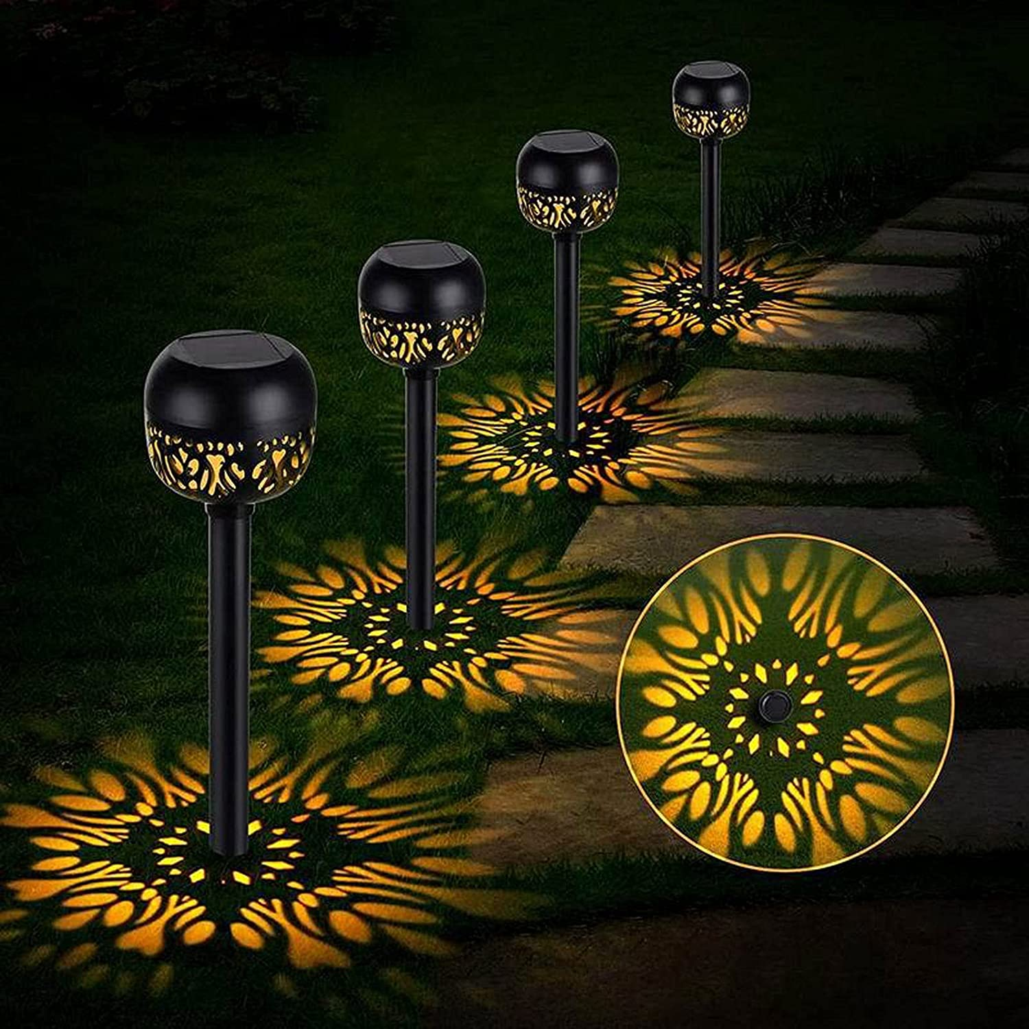 At the price of surprise Garden Solar Lights Outside Waterproof Powe LED White Translated Warm