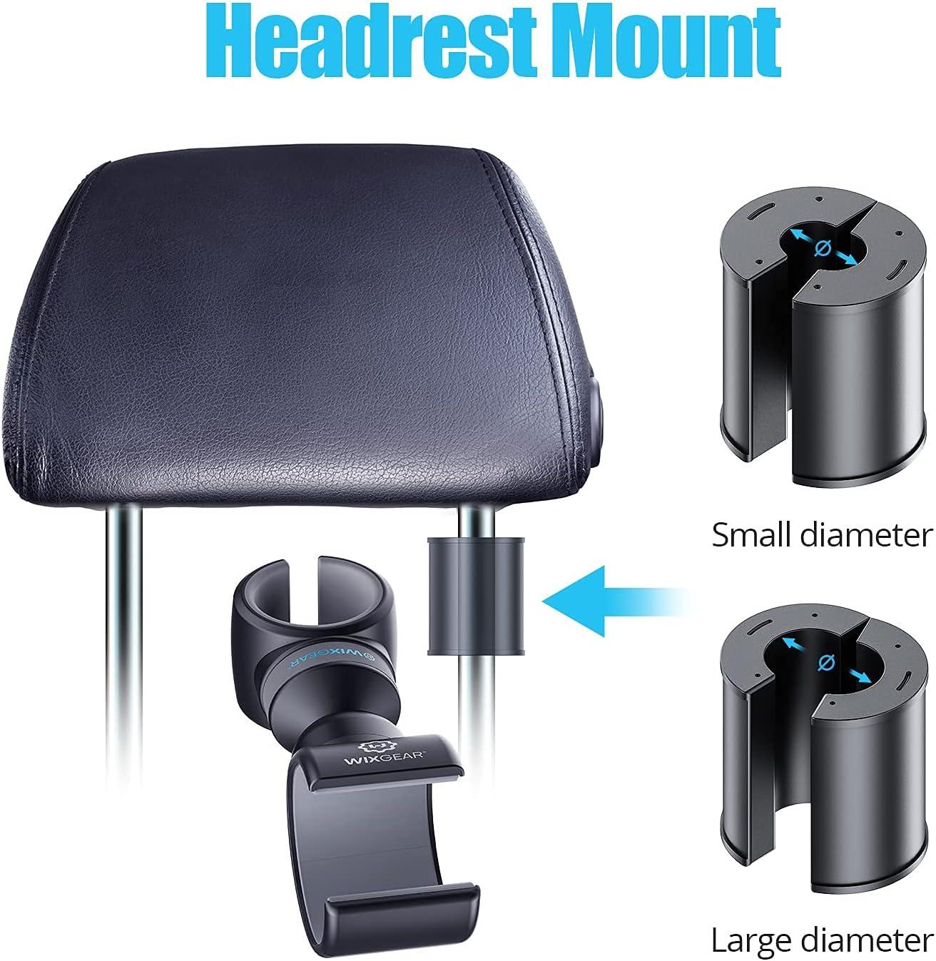 headrest mount as a steering wheel phone holder