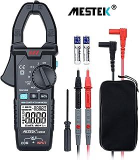 Pinza Amperímetro MESTEK Digital Multímetro Medidor de Voltaje CA/CC Autoescala Amperio eléctrico Ohmio Hz Voltaje Resistencia de Diodo NCV VFC Sujeción de HVAC Automotriz Probador Amperimétrica