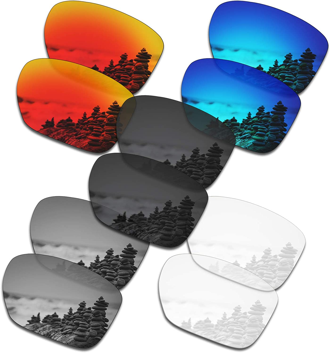 SmartVLT Set Fixed price for sale Super popular specialty store of 5 Men's Replacement Sliver XL Oakley Lenses