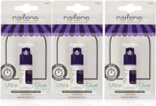 Nailene 0.10 Ounce Ultra Quick Nail Glue - (3 Pack)
