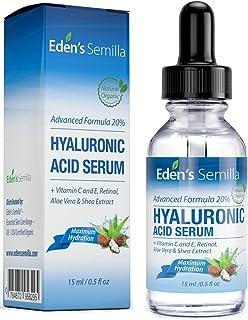 Ácido Hialurónico Serum - 15ml - Es el mejor anti-edad hidradante para el cutis. Ayuda a reducir las arrugas faciales. Contiene Vitamina C, Retinol, y Vitamina E. Proteccíon antioxidante que facilita la producción natural de colágeno que hara su piel mas radiante, suave y saludable
