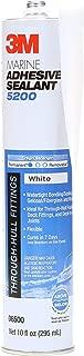 White 3M Marine 5200 Adhesive / Sealant 10 fluid ounce cartridge