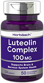 Luteolin Complex with Rutin 100mg | 50 Capsules | Brain and Nervous System Supplement | Vegetarian, Non-GMO & Gluten Free | by Horbaach