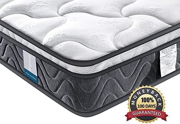 Single Mattress Inofia Sleeping Super Comfort Hybrid Innerspring Twin Mattress Set With 3D Knitted Dual Layered Breathable Cover 8 Certified By CertiPUR US 100 Hassle Free Night Trial