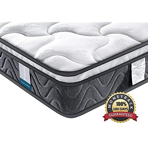 Single Mattress , Inofia Sleeping Super Comfort Hybrid Innerspring twin Mattress Set with 3D knitted Dual