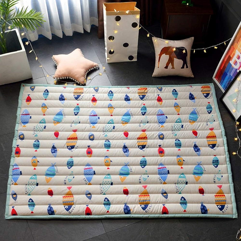 Mr.LQ Babyspielmatte Bodenmatte Kinder Krabbelmatte Activity Gym Centers Weicher, groer Picknickteppich,E,145x195x2cm