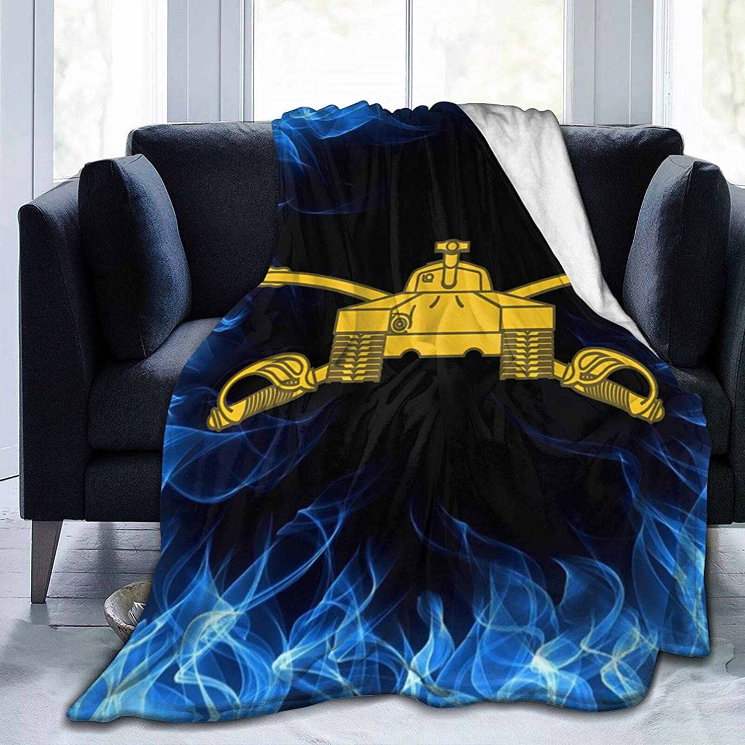 Be super welcome Army Armor High material Branch Insignia Military Prin Veteran Blanket Flannel
